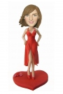 Bobblehead in Slip Dress