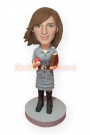 Female Teacher Custom Bobblehead