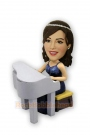 Female Pianist Custom Bobblehead